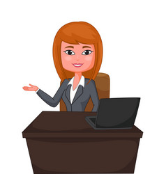 business woman presenting vector image vector image