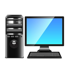 contemporary computer isolated on white vector image vector image