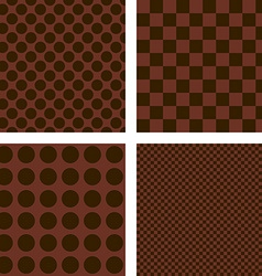 Dark brown geometric shape wallpaper set vector