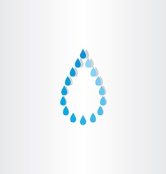 drop of water rain icon design vector image vector image