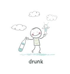 drunk vector image