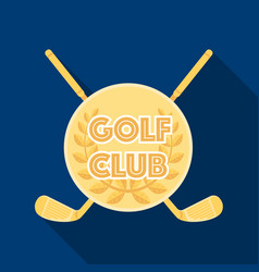 emblem of the golf clubgolf club single icon in vector image vector image