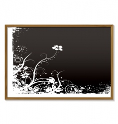 Floral blackboard vector