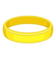 Gold bracelet icon cartoon style vector