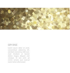 golden glitter border card vector image vector image