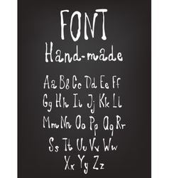 Hand-drawn font Calligraphy alphabet vector image vector image