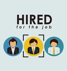 Human Resources design vector image vector image