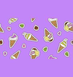 Ice cream cones vector