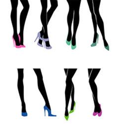 legs vector image