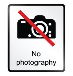 No Photography Information Sign vector image vector image