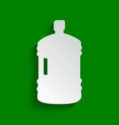 plastic bottle silhouette sign paper vector image