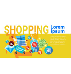 shopping buy commerce sale discount banner vector image