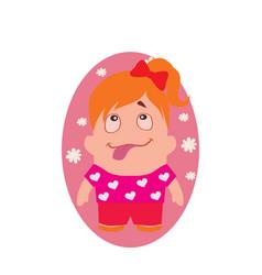 Smiling loving funny avatar little princess vector