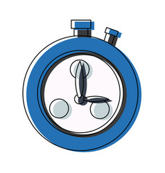 Stopwatch school subject sign simple icon on vector