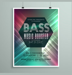 Stylish music party event flyer brochure template vector