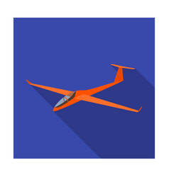 The orange fighter high speed airplane for one vector