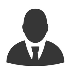 User profile flat icon vector