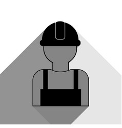 Worker sign black icon with two flat gray vector
