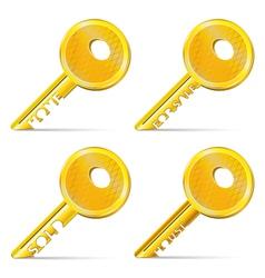 Set of Gold Keys vector image