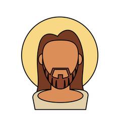 jesus christ catholic blessed spirituality vector image