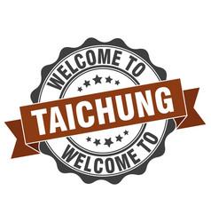 Taichung round ribbon seal vector