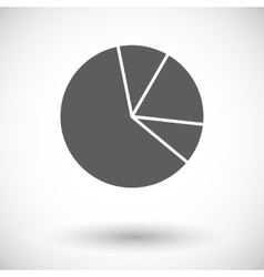 Graph single flat icon vector