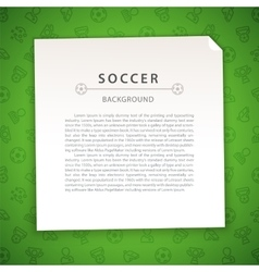 Green Soccer Background with Copy Space vector image
