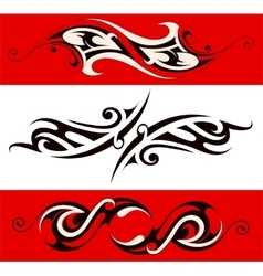 Ethnic tattoo shape vector