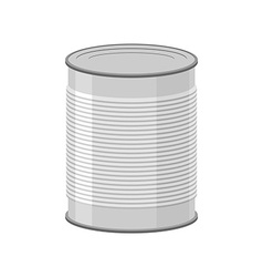 Cans for canned food on white background tin vector