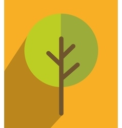 Nature ecology tree icon design vector