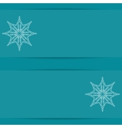 Turquoise blue card with snowflakes and copy space vector