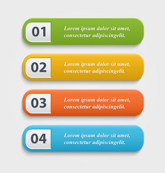 Realistic web buttons vector