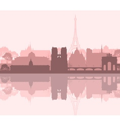 Paris city landscape vector