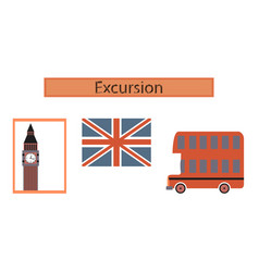 assembly flat icons united kingdom set vector image