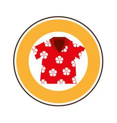 Beach shirt tropical icon vector