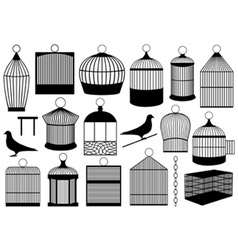bird cages vector image vector image
