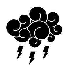 Blue cloud thunderbolt storm cartoon image vector