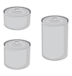 Canned food set vector