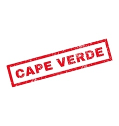 Cape verde rubber stamp vector