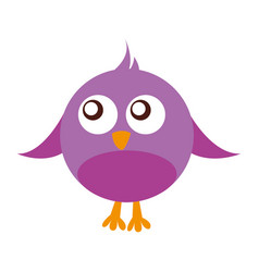 cute bird comic character vector image