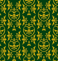damask green vector image vector image