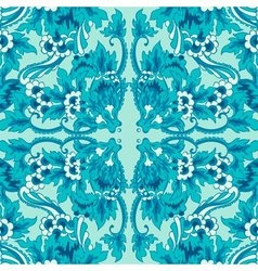 Decorative seamless floral pattern vector image