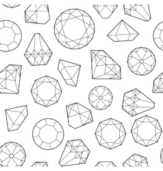 diamonds and crystals vector image vector image
