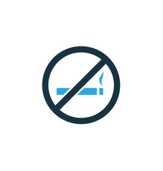 do not smoke colorful icon symbol premium quality vector image