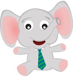 Elephant baby vector