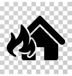 Fire Damage Icon vector image