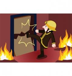 fireman kick vector image