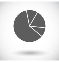 Graph single flat icon vector image