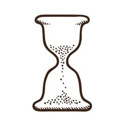 Hourglass symbol vector image vector image