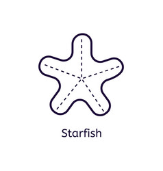 icon of starfish on a white background vector image vector image